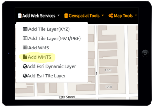 Web Map Tile Service (WMTS)